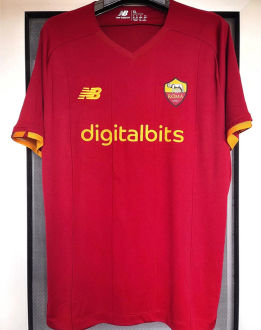 2021/22 AS RM 1:1 Quality Home Red Fans Soccer Jersey