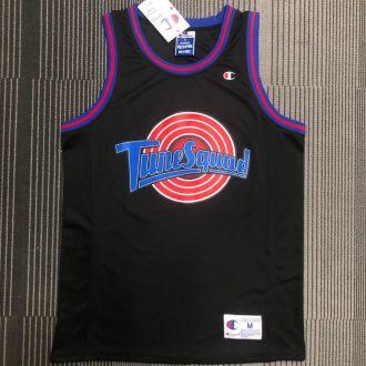 JORDAN # 23 Tune Squad Concept Black NBA Jerseys Hot Pressed