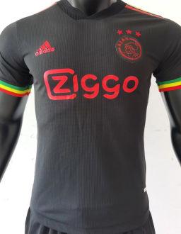 2021/22 Ajax Third Black Palyer Soccer Jersey