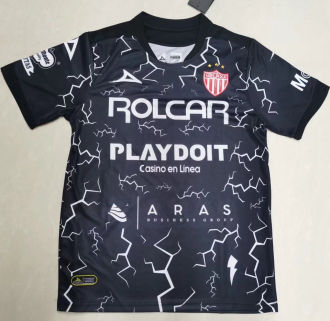 2021/22 Necaxa Away Black Fans Soccer Jersey