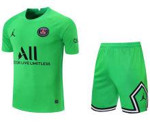2021/22 PSG Green GK Soccer Jersey(A Set)(Pants Have Number)裤有号码