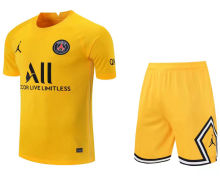 2021/22 PSG Yellow GK Soccer Jersey(A Set)(Pants Have Number)裤有号码