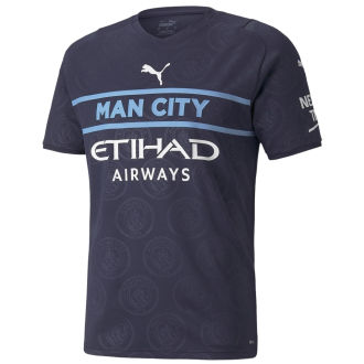 2021/22 Man City Third Black Fans Soccer Jersey