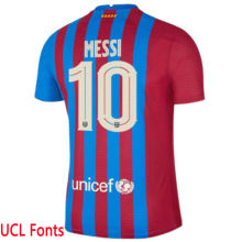 MESSI #10 BA 1:1 Home Fans Jersey 2021/22  (UCL Fonts欧冠字体)