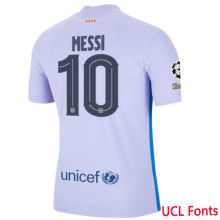 MESSI #10 BA 1:1 Away Fans Soccer Jersey 2021/22 (UCL Fonts欧冠字体)