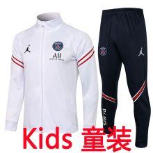 2021/22 PSG JD White Kids Jacket Tracksuit