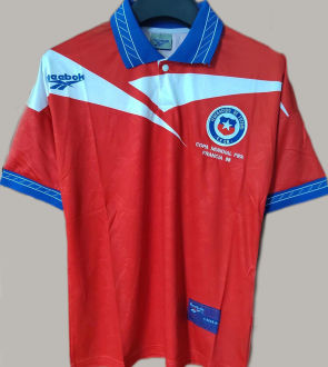 1998 Chile Home Red Retro Soccer Jersey