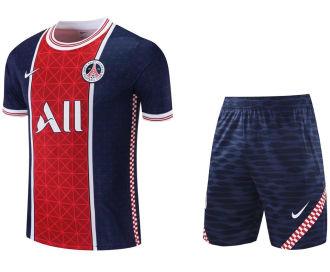 2021/22 PSG Red Blue Short Training Jersey(A Set)拉链口袋