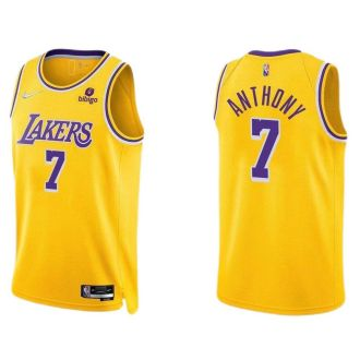 2021/22 Lakers ANTHONY #7 Yellow 75 Years NBA Jerseys Hot Pressed
