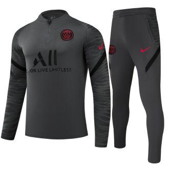 2021/22 PSG Grey Half Pull Sweater Tracksuit
