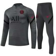 2021/22 PSG Grey Half Pull Player Version Sweater Tracksuit球员版