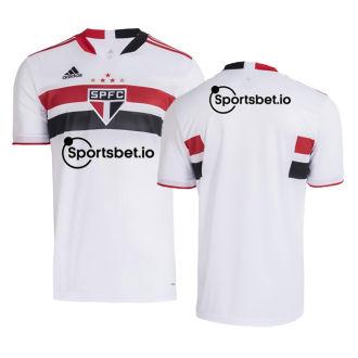 2021/22 Sao Paulo 1:1 Quality Home Fans Jersey(Sportsbet.io有胸前背上广告)