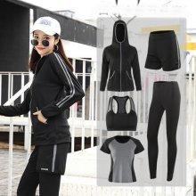 6d183b161b8cb Yoga suit suit new Korean fitness suit quick dry large size sportswear  running suit gym أزياء
