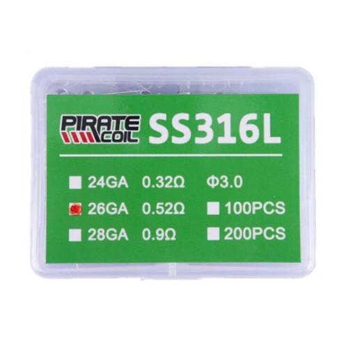 Prebuilt SS316L Coil box 100pcs
