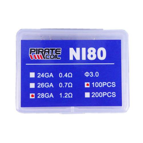 Prebuilt NI80 Coil box 100pcs