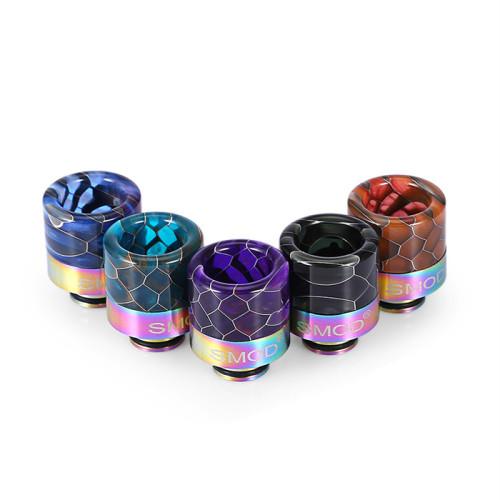 Premium 510 Rainbow Snake Pattern Stainless Drip Tip