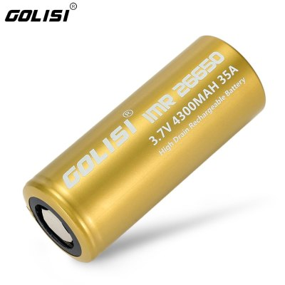 Golisi S43 4300mAh 35A CDC High-drain IMR 26650 Li-ion Battery (Order Separately)