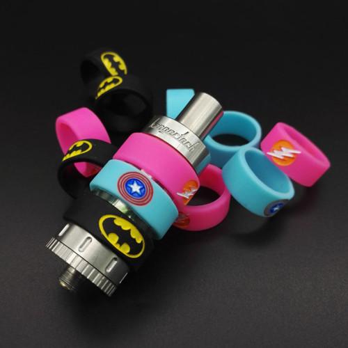 Embossed Printing Batman Silicone Vape Band 22mm*10mm*2mm