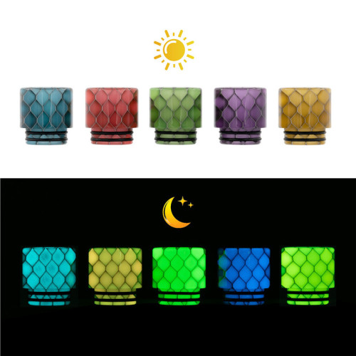 810 Luminous Snake Skin Drip Tips - AS249Y