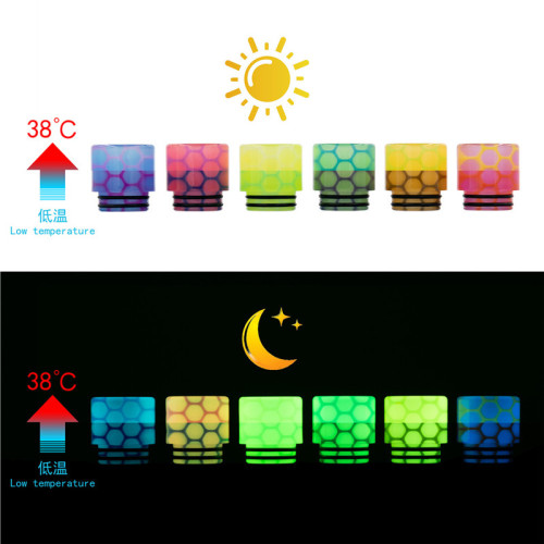 810 Luminous Color changing Snake Skin Drip Tips