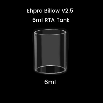 Ehpro Billow V2.5 6ml RTA Tank Glass Tube