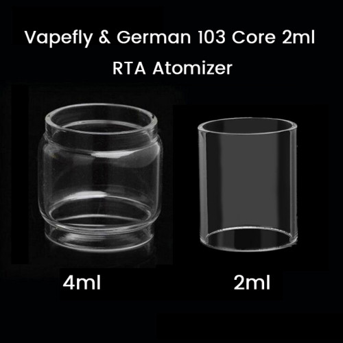 Vapefly & German 103 Core 2ml RTA Atomizer Glass Tube 2ml/4ml