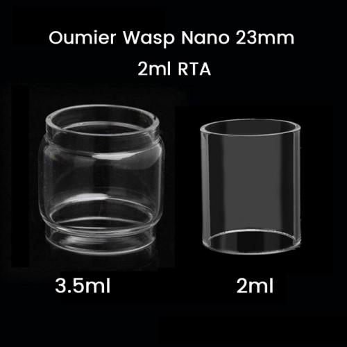 Oumier Wasp Nano 23mm 2ml RTA Glass Tube 2ml/3.5ml