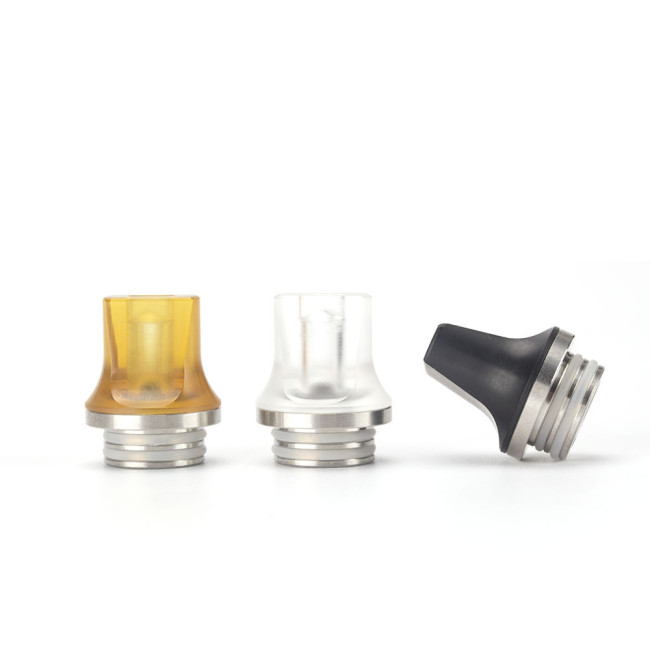 810 Stainless and Resin Flat Drip Tips
