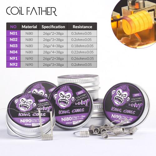 Coilfather Ni90 / Ni80 Clapton Wire 10pcs