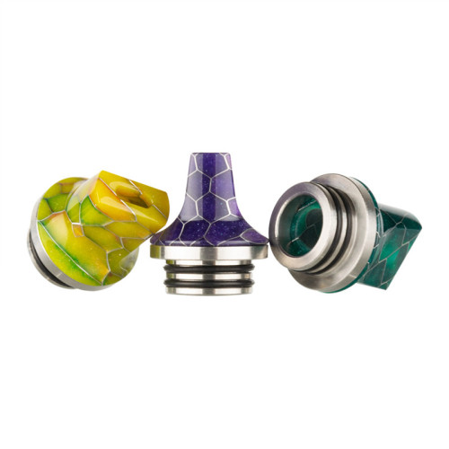 810 Stainless and Snake Skin Resin Flat Drip Tip
