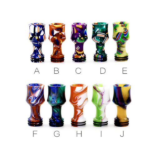 810 Wine Glass Drip TIp with flag Pattern B style