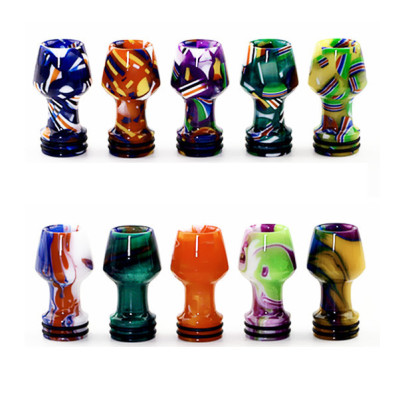 810 Wine Glass Drip TIp with flag Pattern