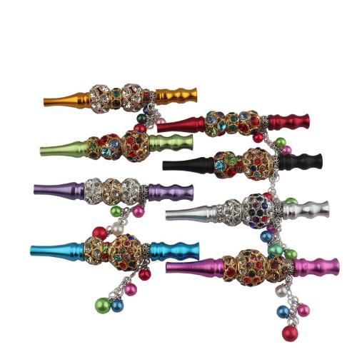 Shisha Hookah Accessories Metal Rhinestone Nozzle Diamond Pendant Hookah Tips
