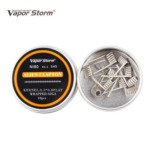Vaporstorm Premade Ni80 Alien Clapton coil 0.4ohm 10pcs