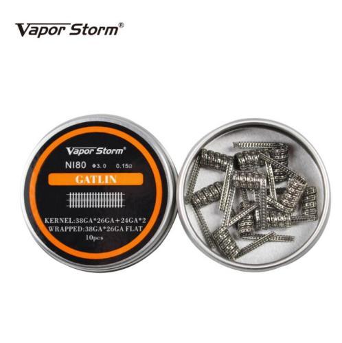 Vaporstorm Premade Ni80 Gatlin Coil 0.15ohm 10pcs