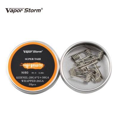 Vaporstorm Premade Ni80 super Taiji Coil 0.26ohm 10pcs