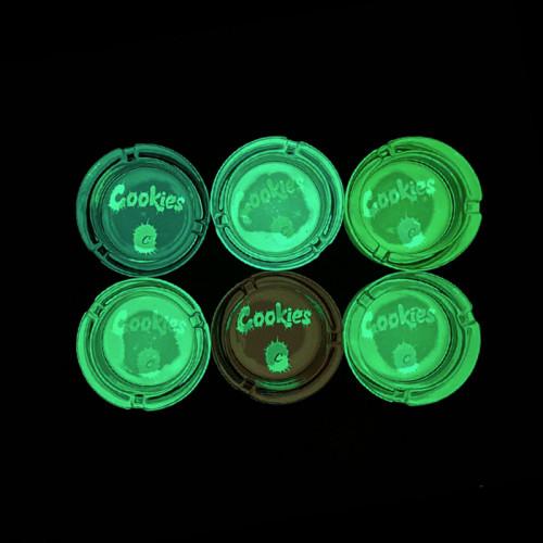 Cookies Luminous Glass Ashtray 6PCS