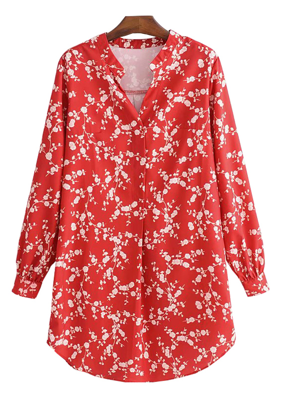 Floral Blouse in Red