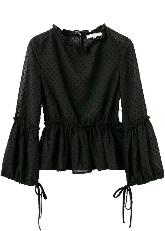 Texture Frill Blouse - Size S