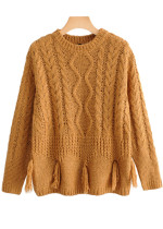 Tassel Detail Sweater in Tan