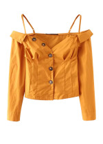 Off Shoulder Blouse in Yellow
