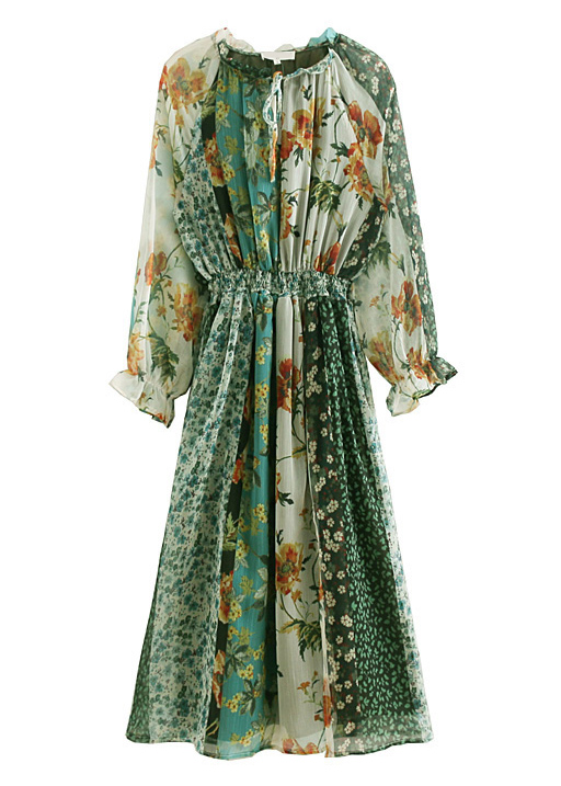 Floral Maxi Dress in Green