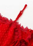 Lace Neckline Off Shoulder Romper