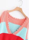 Fringed Rainbow Sweater