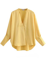 V-Neck Blouse in Yellow