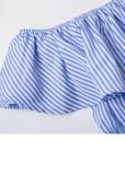Off Shoulder Striped Romper - Size L
