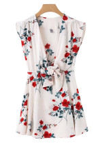 Front Knot Floral Dress - Size M