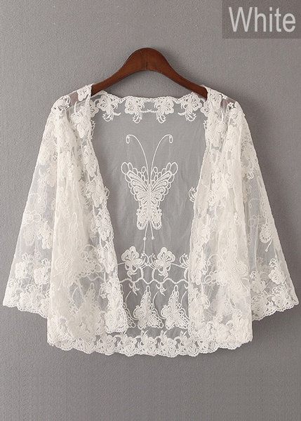 Embroidered Lace Cardigan