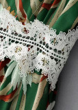 Floral Jumpsuit with Lace Detail - Size S