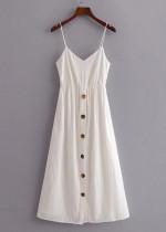 Back Tie Maxi Dress in White - Size XS